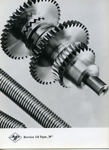 Publicity for Agfa paper Brovira 112 Gears Cogs old Photo 1960