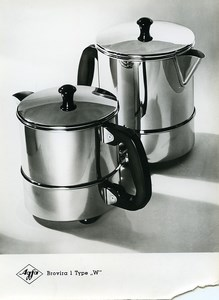 Publicity for Agfa paper Brovira 1 Shiny Pots old Photo 1960