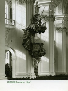 Publicity for Leonar Agfa paper Brunarto Church Pulpit old Photo 1960