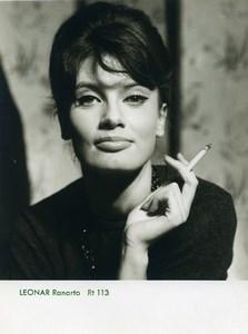 Publicité pour papier Agfa Leonar Ranarto 113 Fumeuse de Cigarette Ancienne Photo 1960