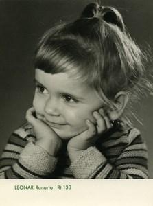 Publicité pour papier Agfa Leonar Ranarto 138 Enfant Souriant Ancienne Photo 1960