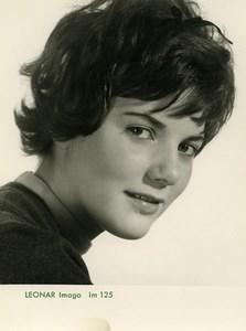 Publicité pour papier Agfa Leonar Imago 125 Jeune Femme Ancienne Photo 1960