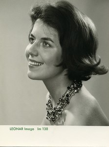 Publicity for Leonar Agfa paper Imago 138 Smiling Woman old Photo 1960