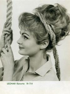 Publicité pour papier Agfa Leonar Ranarto 114 Femme et Corde Ancienne Photo 1960