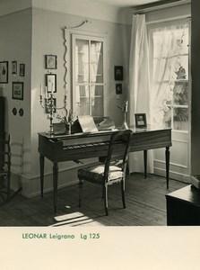 Publicité pour papier Agfa Leonar Leigrano 125 Piano Ancienne Photo 1960