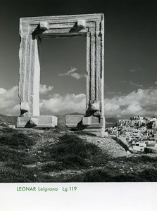 Publicity for Leonar Agfa paper Leigrano 119 Naxos Apollo Temple old Photo 1960