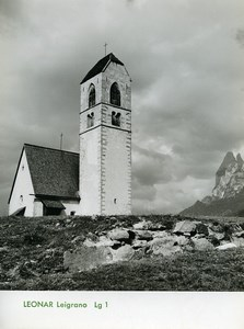 Publicity for Leonar Agfa paper Leigrano Lg1 Mountain Church old Photo 1960
