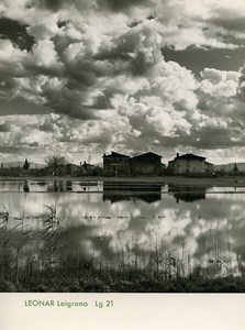 Publicity for Leonar Agfa paper Leigrano Lg21 Clouds Reflection old Photo 1960