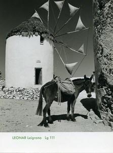 Publicité pour papier Agfa Leonar Leigrano Lg111 Mule Moulin a Vent Grec? Ancienne Photo 1960