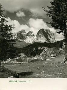 Publicité pour papier Agfa Leonar Lumarto L21 Paysage de Montagne Ancienne Photo 1960