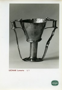 Publicity for Leonar Agfa paper Lumarto L1 Metal Cup old Photo 1960