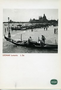 Publicity for Leonar Agfa paper Lumarto L2a Venice Gondolas old Photo 1960