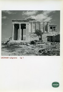 Publicity for Leonar Agfa paper Leigrano Lg1 Greek Temple old Photo 1960
