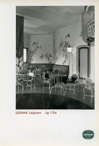 Publicity for Leonar Agfa paper Leigrano Lg 112a Nice Interior old Photo 1960