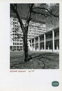 Publicité pour papier Agfa Leonar Leigrano Lg 117 Architecture Batiment Ancienne Photo 1960