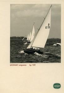 Publicité pour papier Agfa Leonar Leigrano Lg 122 Voiliers Ancienne Photo 1960