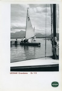 Publicity for Leonar Agfa paper Grandamo Gr113 Lake Garda? Sailboat Photo 1960