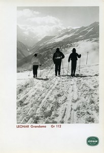 Publicity for Leonar Agfa paper Grandamo Gr112 Cross-country skiing Photo 1960