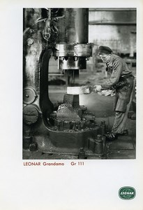 Publicity for Leonar Agfa paper Grandamo Gr111 Metal Works Worker Photo 1960