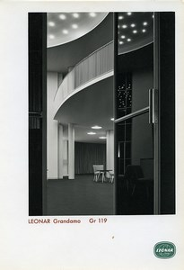 Publicity for Leonar Agfa paper Grandamo Gr119 Grand Interior old Photo 1960
