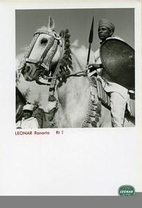 Publicité pour papier Agfa Leonar Ranarto RT1 Afrique? Guerrier a Cheval Ancienne Photo 1960