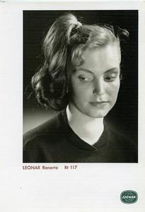 Publicité pour papier Agfa Leonar Ranarto Rt117 Femme Portrait Ancienne Photo 1960