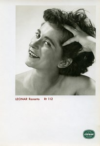 Publicity for Leonar Agfa paper Ranarto Rt112 Woman Portrait old Photo 1960