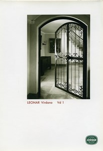 Publicity for Leonar Agfa paper Virdano Vd1 Wrought Iron Door old Photo 1960