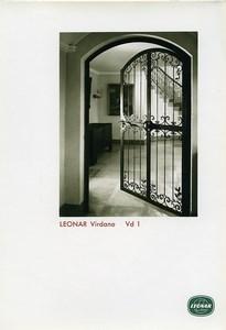 Publicité pour papier Agfa Leonar Virdano Vd1 Porte Fer Forge Ancienne Photo 1960