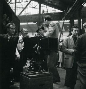 France opérateur photographique dans une Halle Station de Train? Ancienne Photo 1930's