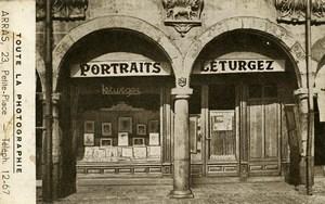 France Arras Atelier de Photographie Leturgez Ancienne carte postale 1920