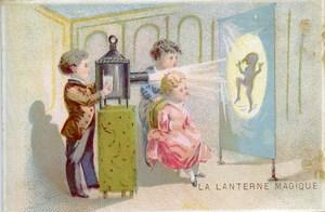France Ancienne Chromo Lanterne Magique vers 1870