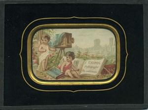 Publicité pour Cairol Photographe à Périgueux Ancienne Chromo encadree 1870