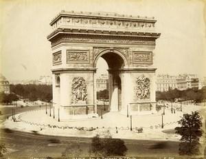France Paris Arc de Triomphe de l'Etoile old Photo LP Pamard 1880