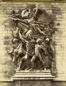 France Paris Arc de Triomphe Marseillaise by Rude old Photo LP Pamard 1880
