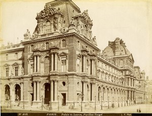 France Paris Louvre Palace Pavillon Turgot old Photo LP Pamard 1880