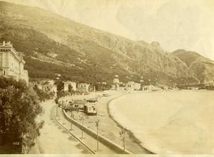 France Menton Garavan Panorama Ancienne Photo 1880