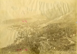 France Menton Panorama Cote d'Azur Ancienne Photo 1880