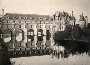 France Chenonceaux Chenonceau Castle old Photo 1890