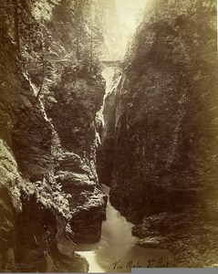 Switzerland Viamala Gorge Mountain 2nd Bridge old Braun Photo 1880