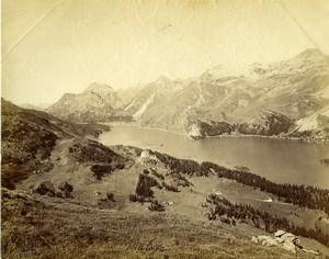 Switzerland Maloja Lake panorama old Photo Braun 1880
