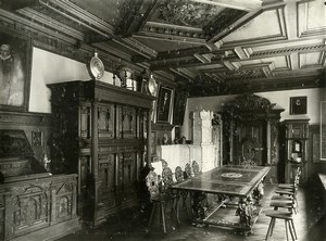 Switzerland Basel Museum interior Furniture old Photo 1900