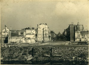 Belgium WWII Tournai Destruction old Photo 1945