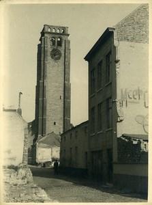 Belgique WWII Tournai Eglise St Brice Destruction Ancienne Photo 1945