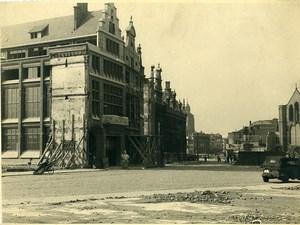 Belgique WWII Tournai Destruction Ancienne Photo 1945
