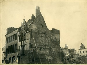 Belgium WWII Tournai Destruction old Photo 1945