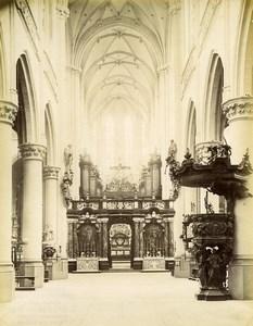 Belgium Antwerpen Sint-Jacobskerk St. James Church interior old Photo 1880