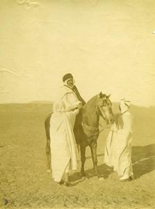 Algeria Bedouin? Horse rider in the Desert old Photo 1880