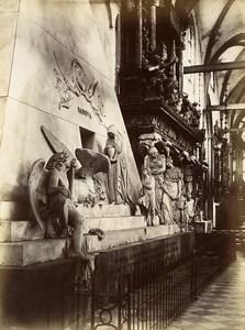 Italy Venice Venezia Canova Monument old Photo Paolo Salviati 1880