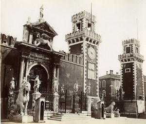 Italy Venice Venezia Arsenale old Photo Paolo Salviati 1880